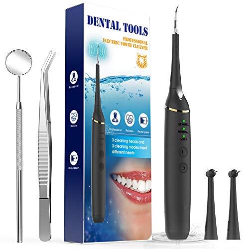 Kit de limpieza de dientes Limpieza de dientes Kit de limpieza de dientes Blanqueamiento dental Limpieza de dientes Elimina las manchas e impurezas de los dientes rebeldes y los residuos Luz LED de 3 cabezas